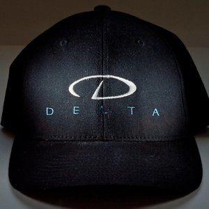 Delta Black Flexfit Hat